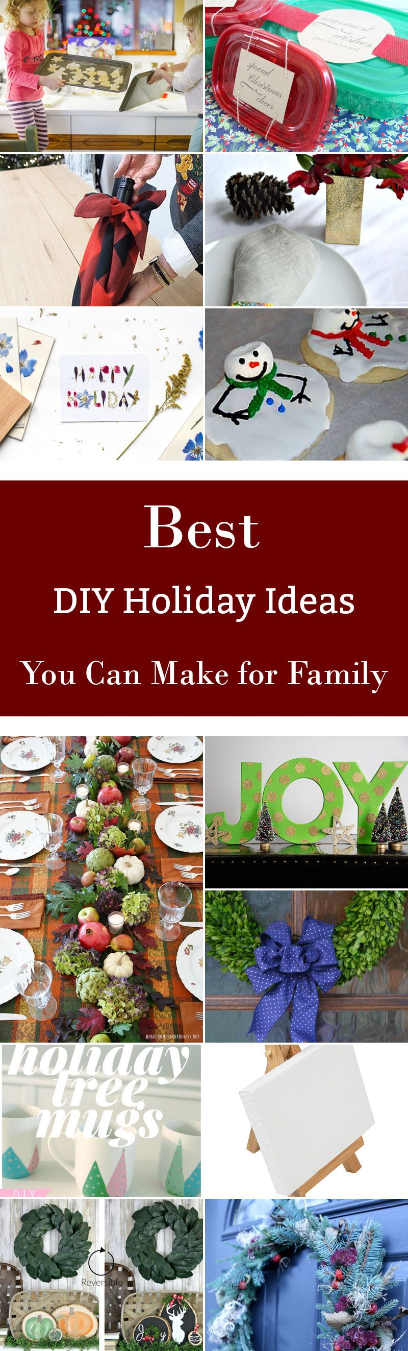 30 Best Diy Holiday Ideas You Can Make For Family