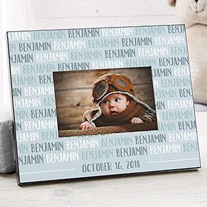 Modern baby boy personalized picture frame personalized picture modern baby boy personalized picture frame negle Image collections