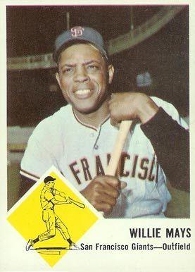 1963 Fleer Mays Willie Mays Baseball Baseball Card Values