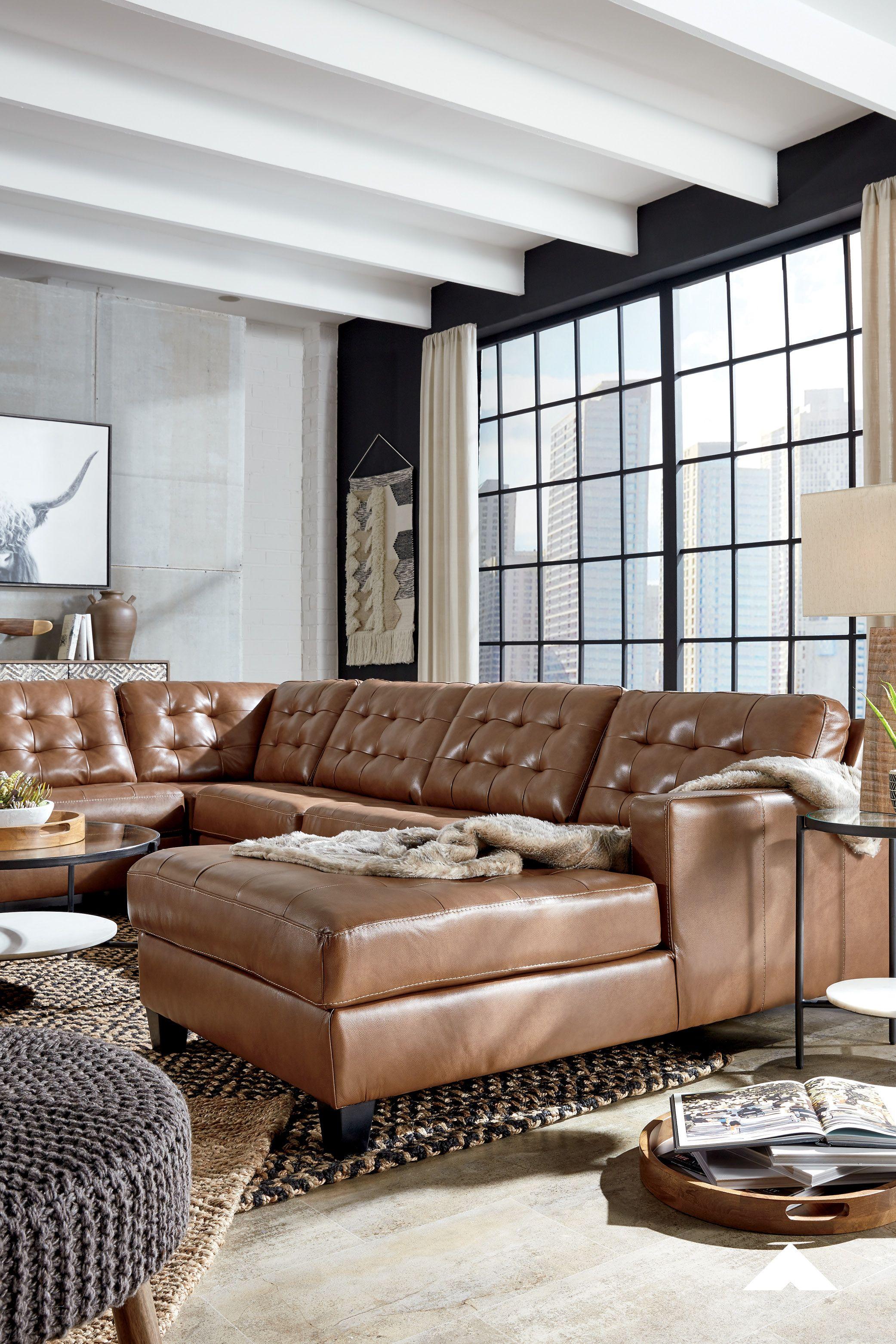 Baskove Auburn Sectional By Ashley Furniture Ashleyfurniture Sectional Leather Sectional Furniture