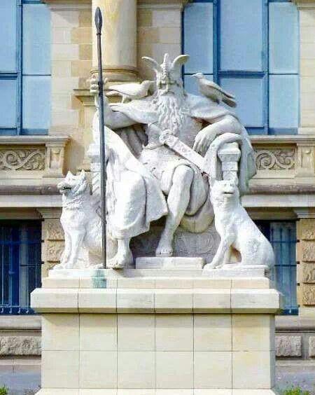 Allfather Odin statue ...