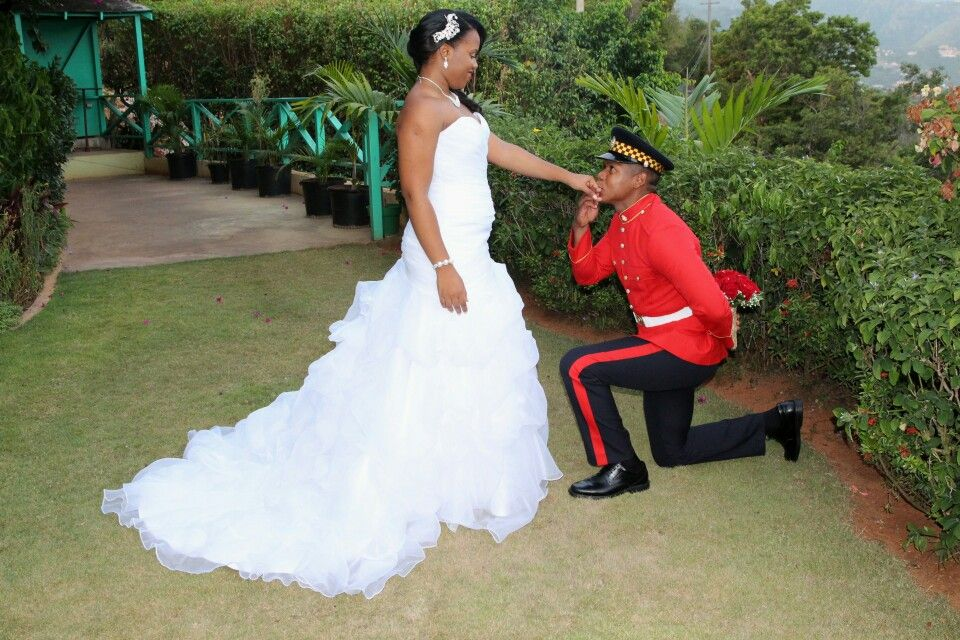 My Beautiful Garden Jamaican Military Wedding Jamaican Wedding Military Wedding Wedding Dresses