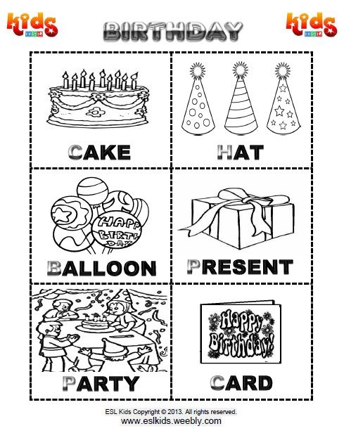 birthday worksheet flashcards for kids vocabulary worksheets flashcards for kids worksheets. Black Bedroom Furniture Sets. Home Design Ideas