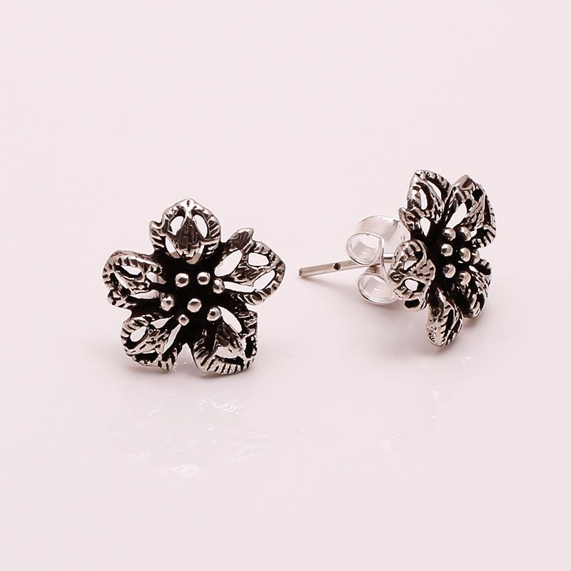 925 Solid Sterling Silver Stud Earrings, Gorgeous Fine Jewelry 2.2 gm Gift FE21…