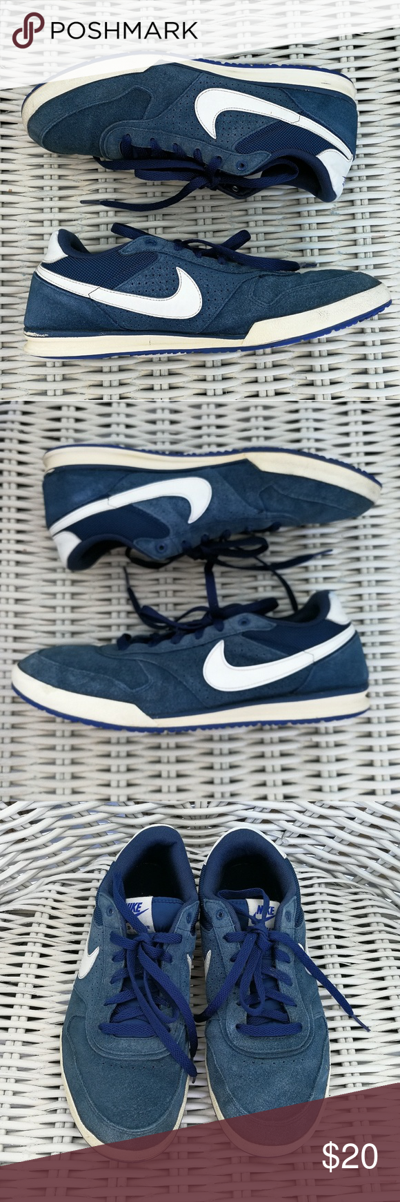 huge discount 5477f ef2cb 9.5 NIKE Field Trainer Blue Suede 443918-414 sail Great condition. No  trades. Priced to sell. Price is FIRM. Nike Shoes Sneakers
