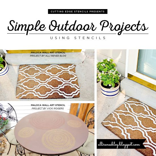 Simple outdoor projects using stencils outdoor projects cutting sprucing up your deck patio or entrance just got an inspirational boost thanks to these outdoor stencil projects that you can do yourself solutioingenieria Image collections