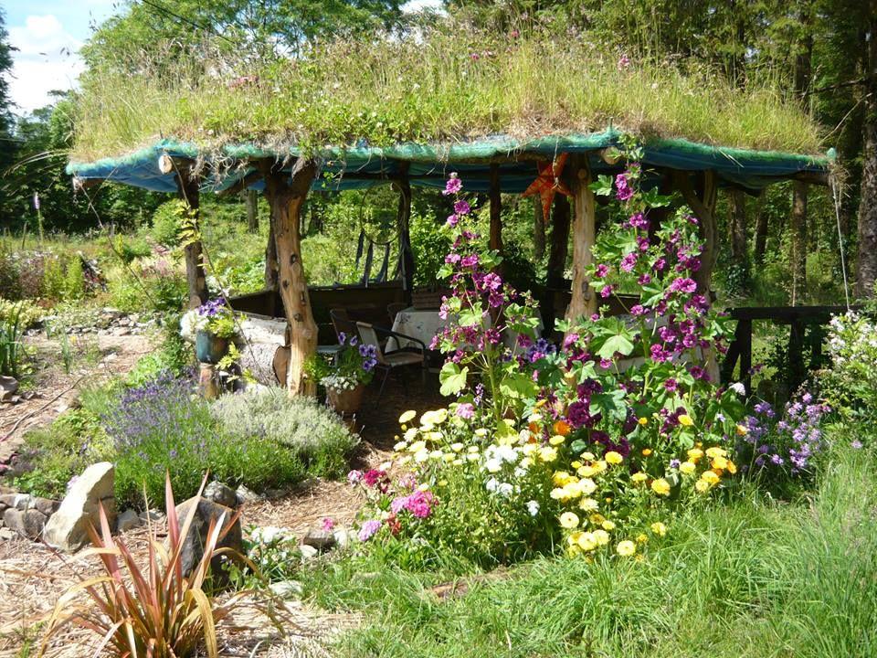 Living roof garden chillatorium in West Ireland. Photo ...