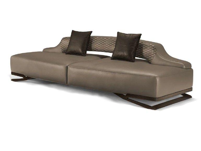Upholstered 3 seater leather sofa V055 | 3 seater sofa ...