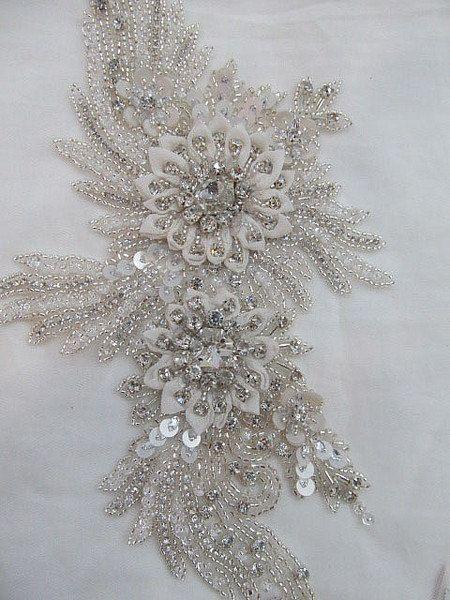 1 Swarovski Crystal Wedding Gown Applique HERCULES $188.00 http ...