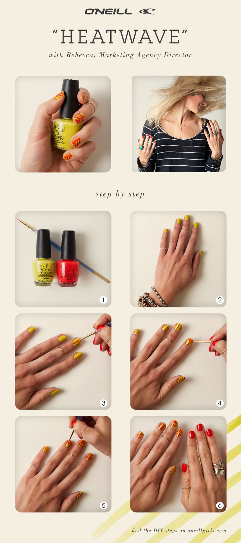 Manicure Monday collab with @Foam Magazine! Get the DIY Heat Wave ...