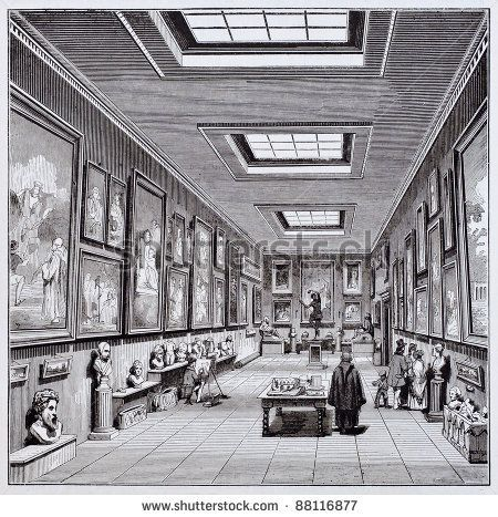 Aix en provence museum interior old illustration created - Magasin bricolage aix en provence ...