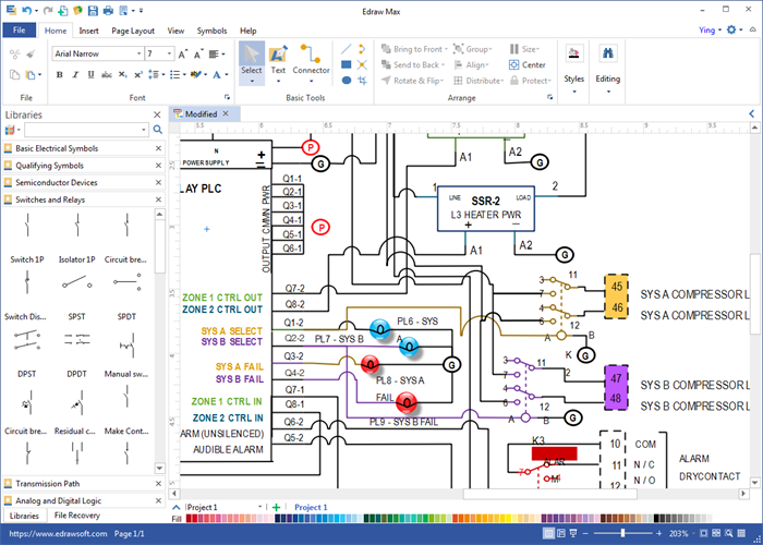 Wiring Diagram Software Electrical Diagram Electrical Engineering Projects Diagram