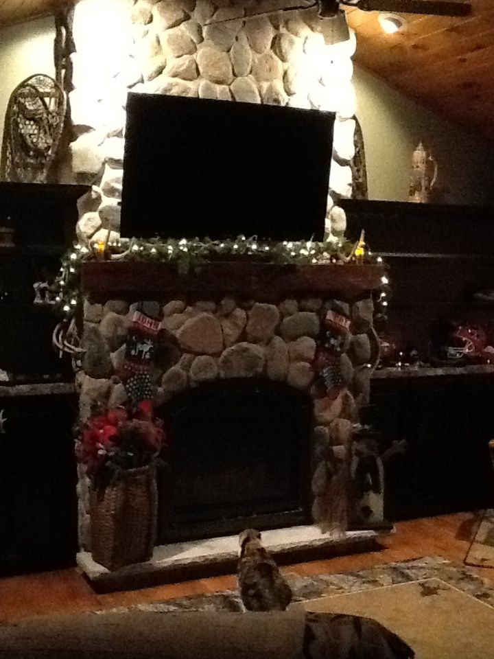 Our Mancave Fireplace Man Cave Fireplace Where The Heart Is