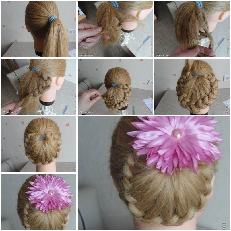 Remember the unique braided bun hairstyle that I posted recently? It was so popular that thousands of my Facebook fans have shared it. Here's another weaving braids around ponytail hairstyle. It is a simplified version of the previous one. It doesn't involve weaving the strands of hair in the front. It …