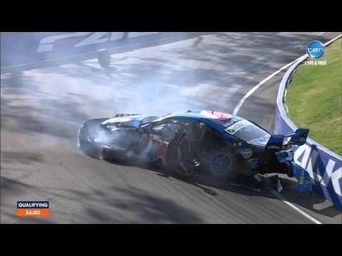Bathurst Crash 2015 Chaz Mostert Bathurst Mount Panorama Car Crash