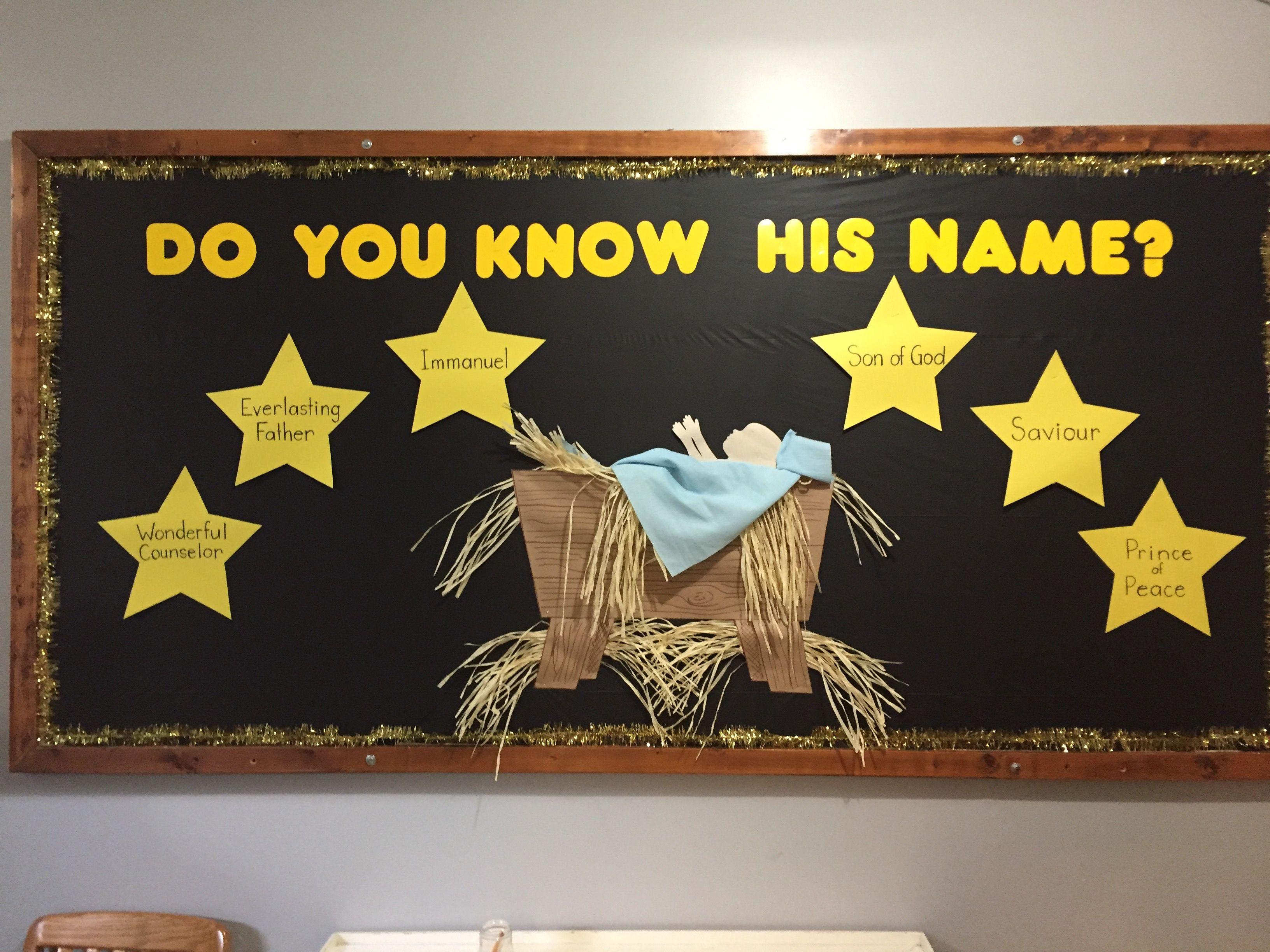 Christmas Bulletin Board Sunday School Church Children S Ministry Boards