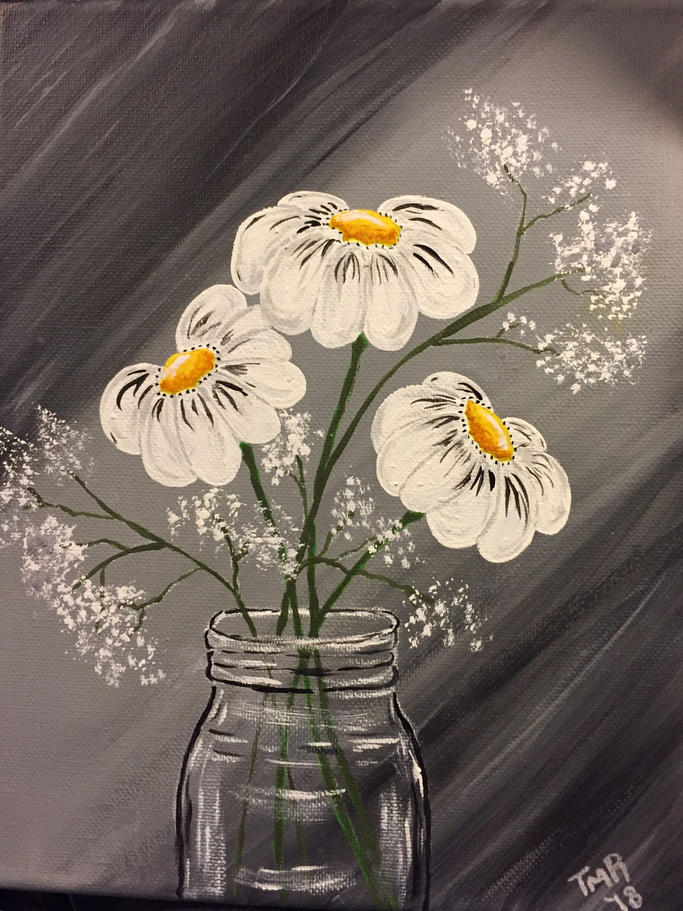 Small 8x10 Glass vase, Painting, Vase