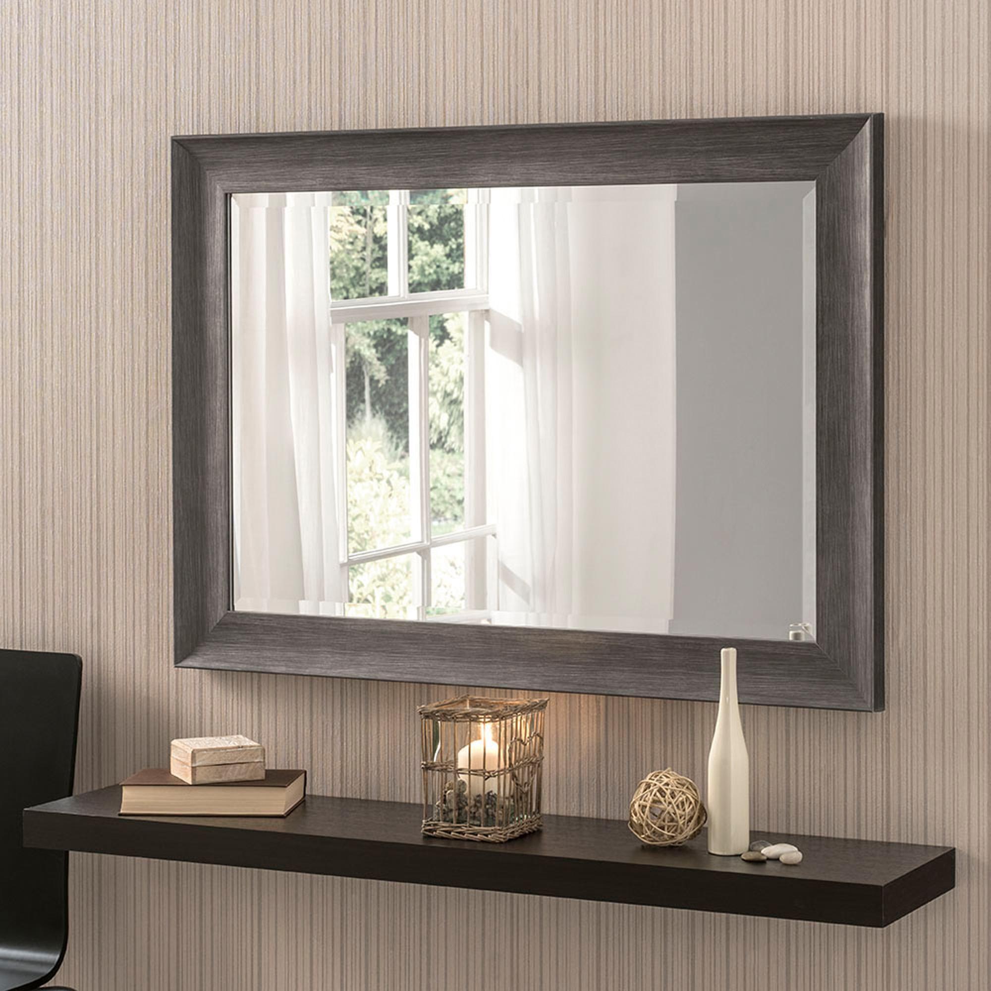 Yearn Framed Mirror Dark Grey In 2020 Grey Wall Mirrors Dark Grey Walls Home Decor