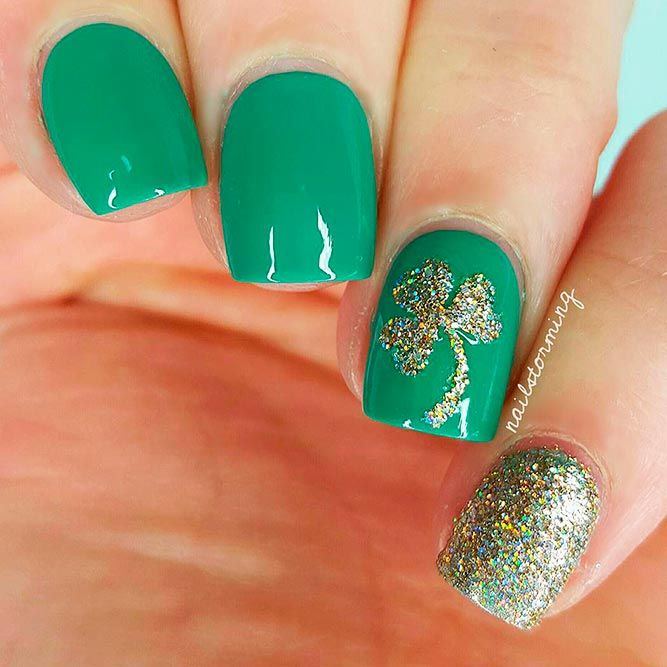 35 Lucky Nails Designs For St Patricks Day Nail Nail Manicure
