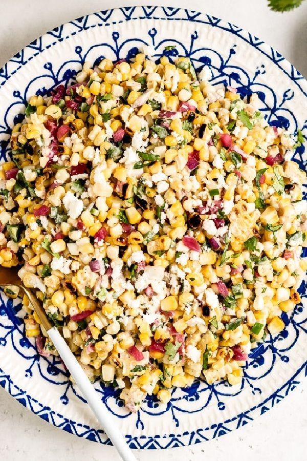 Mexican Street Corn Salad Recipe #mexicanstreetcorn