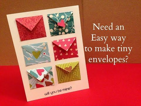 How To Make Tiny Envelope And A Card Tutorial Youtube Mini Envelopes Diy Tiny Envelopes Mini Envelopes Template