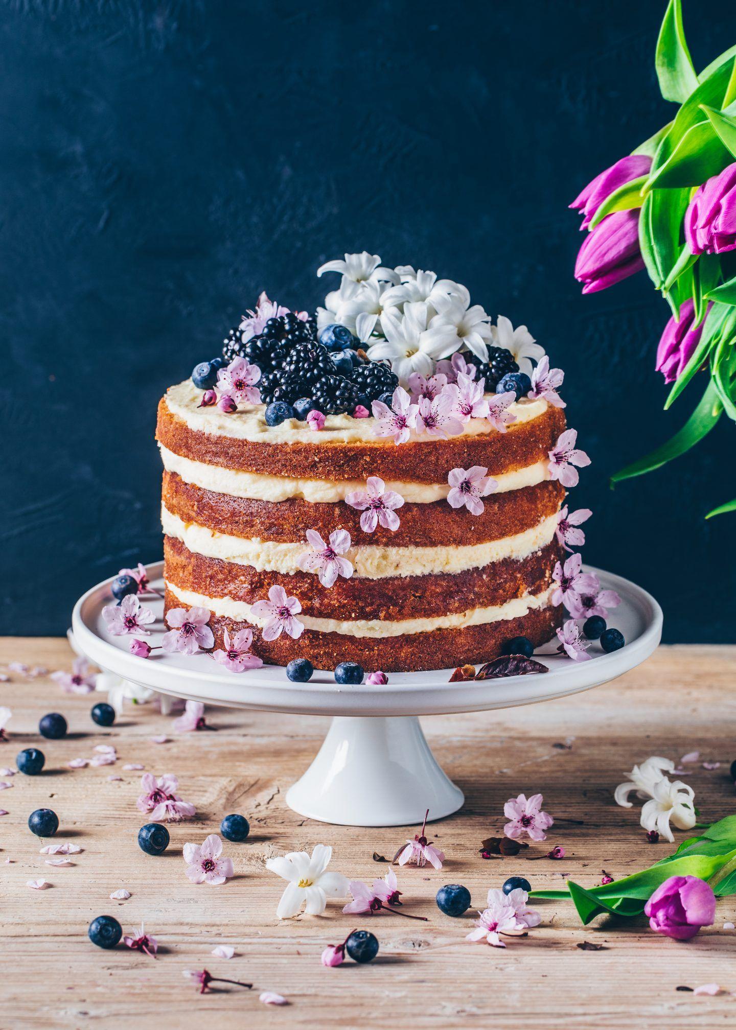 Lemon Blueberry Cake Vegan Layer Cake Bianca Zapatka Foodblog Blueberry Lemon Cake Vegan Cake Recipes Vegan Lemon Cake