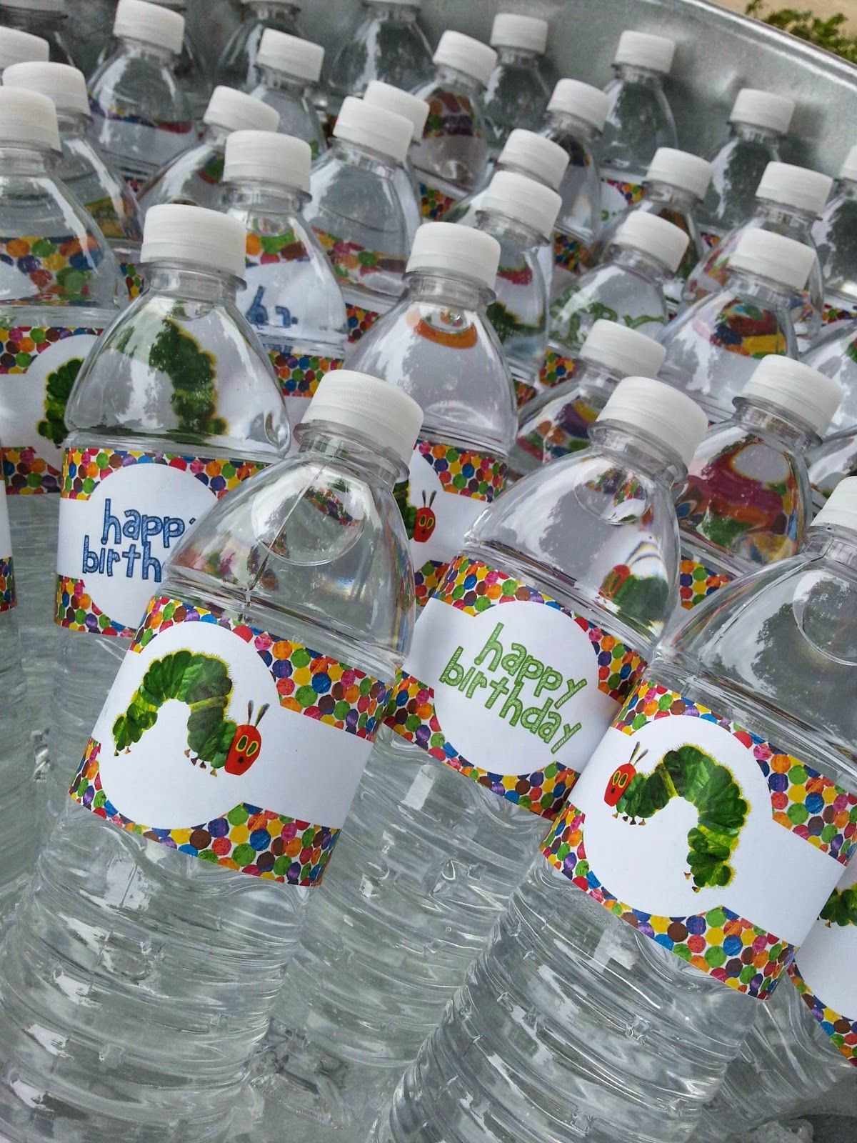 Free party printables, very hungry caterpillar, water bottle ...
