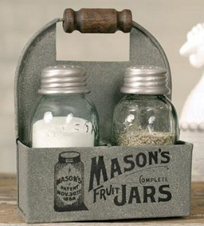 Mason Jar Kitchen Decor Home Decor For The Kitchen Mason Jar Salt And Pepper Love These
