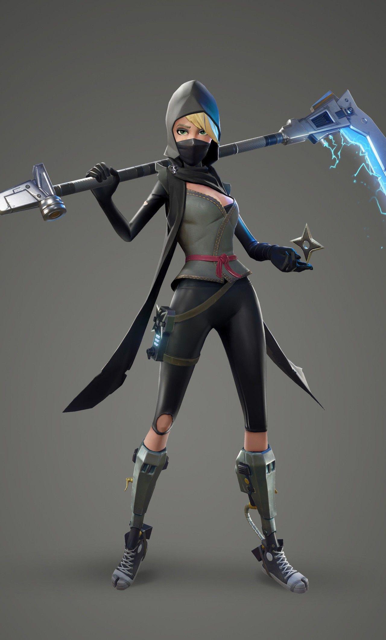 Fortnite Wallpaper Fortnite Female Ninja 6b 1280×2120