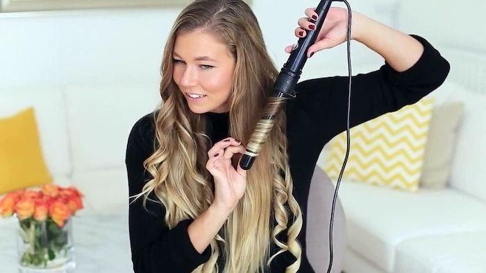 1001 Ideen Fur Locken Mit Lockenstab Frisuren Zu Besonderen Anlassen Naturlocken Frisuren Locken Ohne Hitze Locken Frisuren