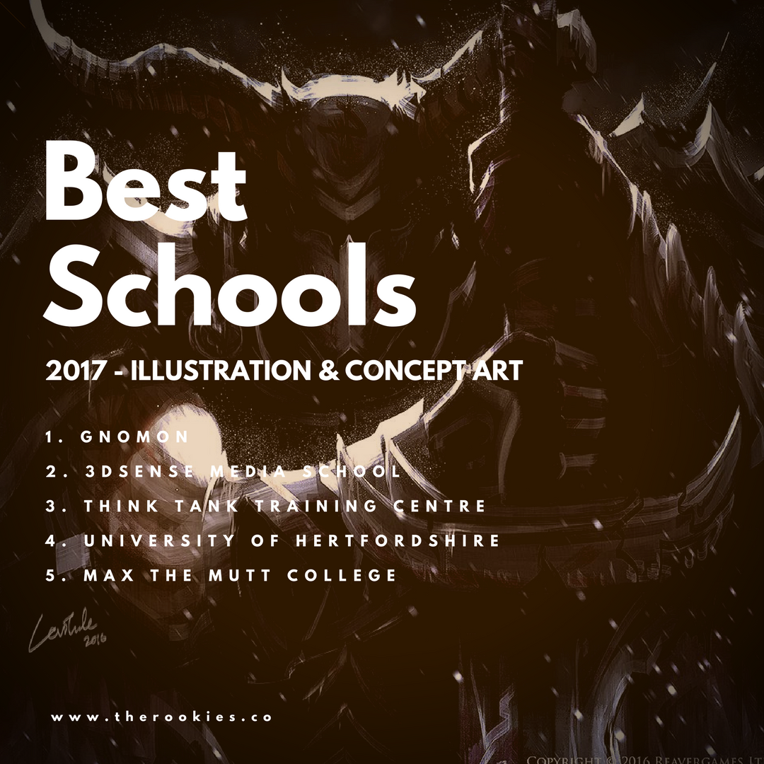 Best #Illustration and #ConceptArt Schools for 2017. Based on 1,800 student entries fro 500 international schools. http://www.therookies.co/the-best-creative-schools-2017/