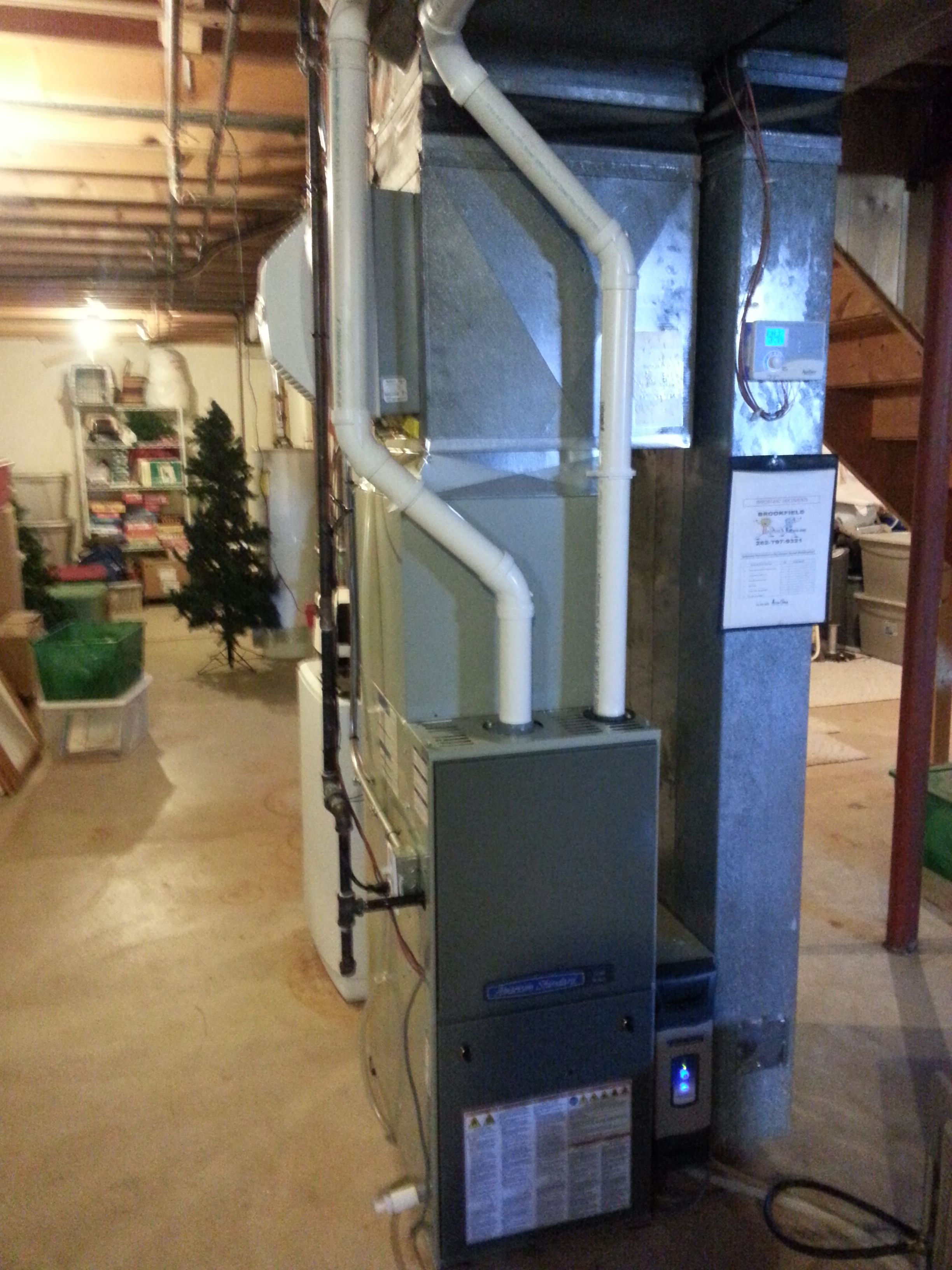 American Standard Two Stage Variable Speed 97 Gas Furnace With