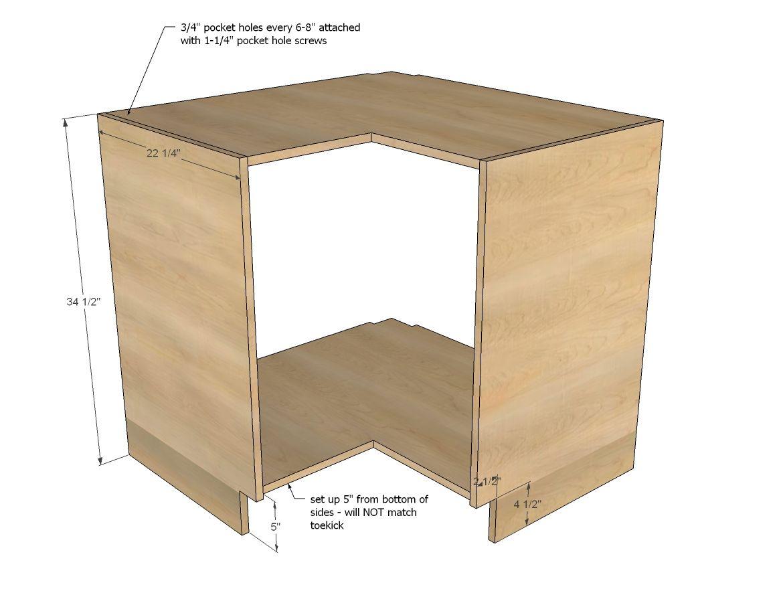 Best Easier 36 Corner Base Kitchen Cabinet Momplex Vanilla 400 x 300