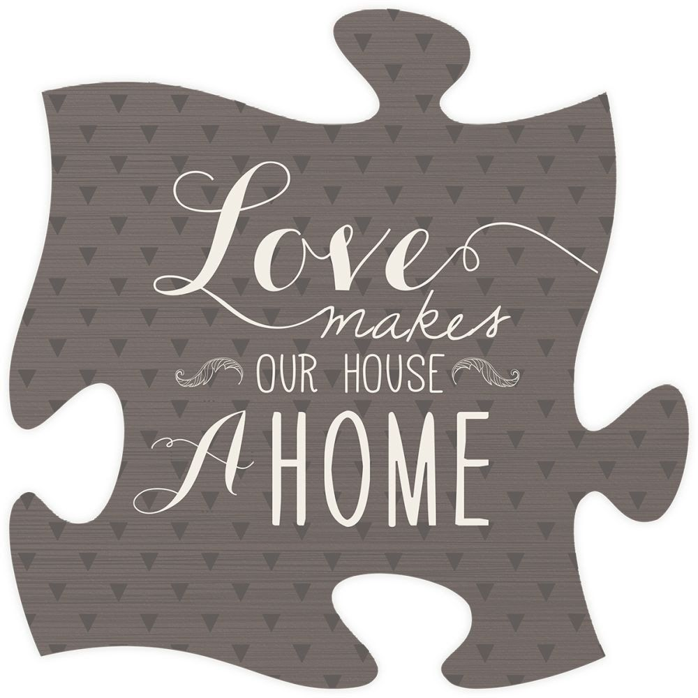 Love Makes Quote Puzzle Piece Puzzle frame, Puzzle