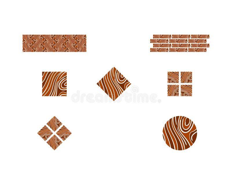 Illustration About Set Of Vector Logo Parquet Laminate Flooring Tiles Flooring Logo Paquet Logo Illustration Of Lumber Decor Vector Logo Flooring Logos