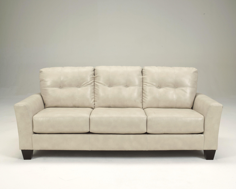 Paulie Durablend White Leather Sofa Paulie Durablend