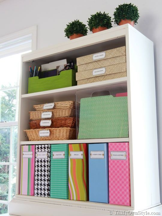 Organizing Ideas Colorful Magazine Files Free Labels Home Office Organization Office Organization Tips Home Filing System