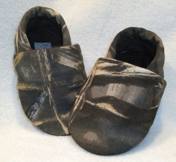 Toddler boy or girl, Camo, toddler slippers, toddler booties, baby shoes, kids shoes, childrens shoes on Etsy, $16.00