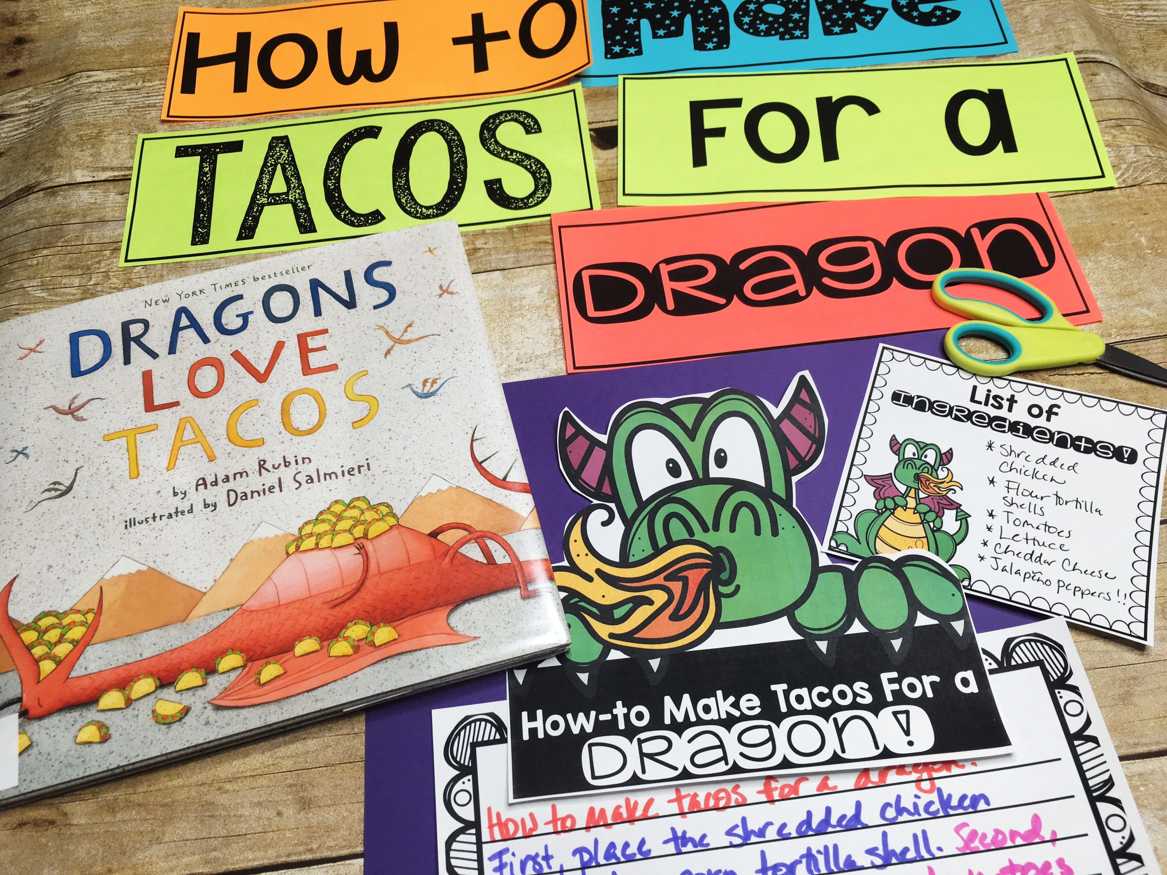 Dragons Love Tacos Procedural Writing Lesson