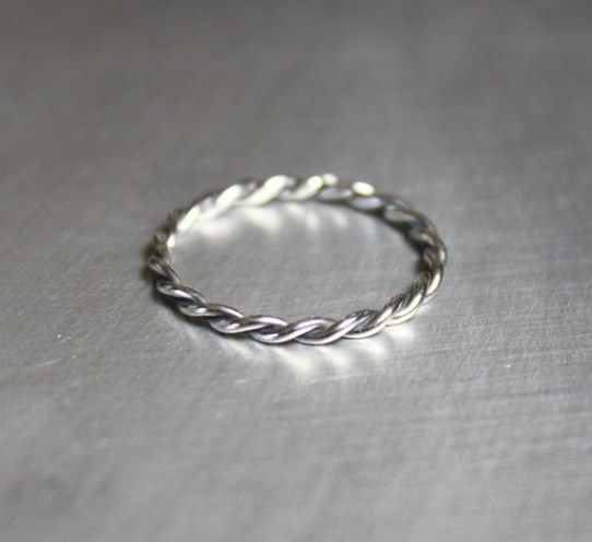 Stacking Rings Beaded Ring Very Thin Ring Delicate Ring Eco-friendly Ring Recycled Silver Ring Midi Ring  Dainty Ring Handmade Ring
