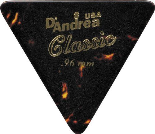 D'Andrea 355 Triangle Celluloid Guitar Picks One Dozen Shell Heavy by D'Andrea. $3.95. 355 Triangle Celluloid Picks provide a familiar touch and tone like real tortoise shell. Set of 12.