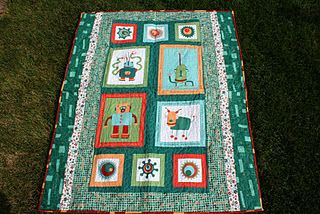 Robot quilt cogsmo fabric