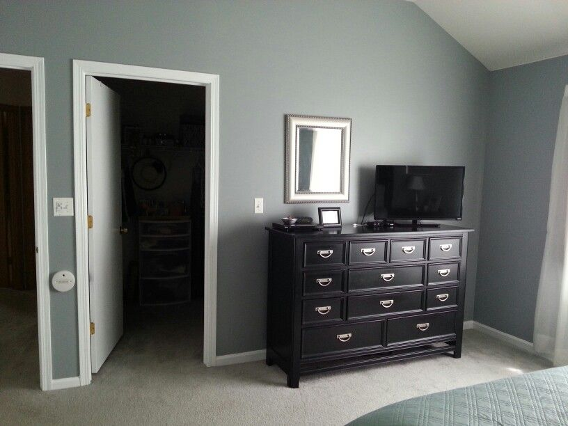 Benjamin Moore Adagio New Project Man Cave Wall Color Man Cave Wall Colours Updating House Benjamin Moore Bedroom