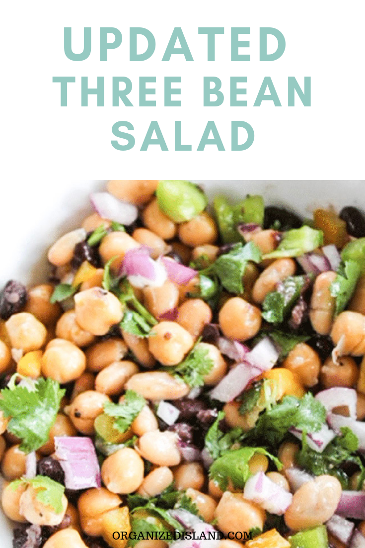 This Updated Three Bean Salad Recipe Is Similar To The Classic But Updated For A Refreshing Twist This Upd Bean Salad Recipes Salad Recipes Easy Salad Recipes