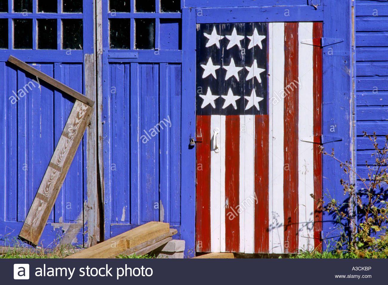 American Flag Painted On Barn Door Usa Wisconsin Kewaunee American Flag Painting Flag Painting Barn Door