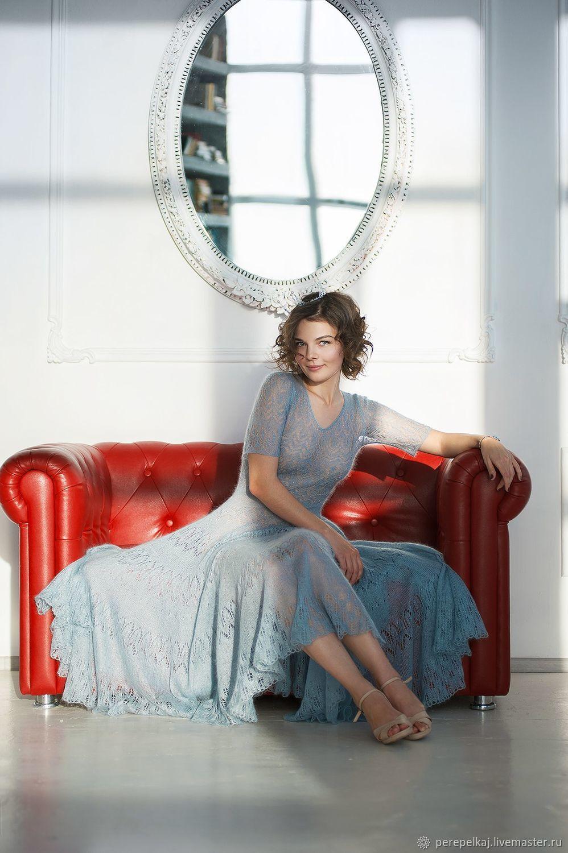 1942605eec2 Платья ручной работы. Ярмарка Мастеров - ручная работа. Купить Платье  «Паутина». Handmade. Голубой