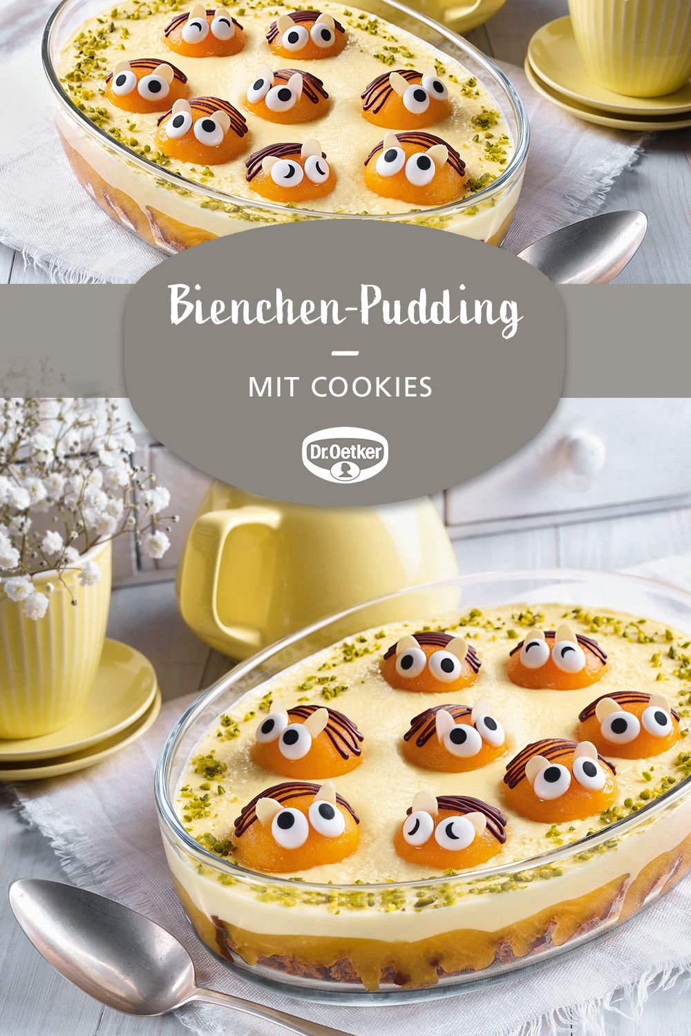 Photo of Bienchen-Pudding mit Cookies