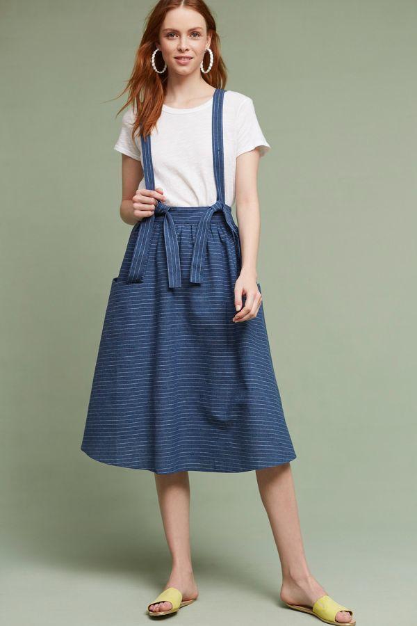 3ffcd63dd Moon River Regina Suspender Skirt, Blue | vestidos en 2019 | Faldas ...