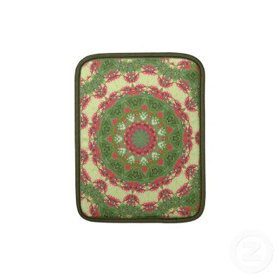 Tropical Jatropha Flora iPad/iPad 2/Macbook Air Sleeve - Look how pretty :)
