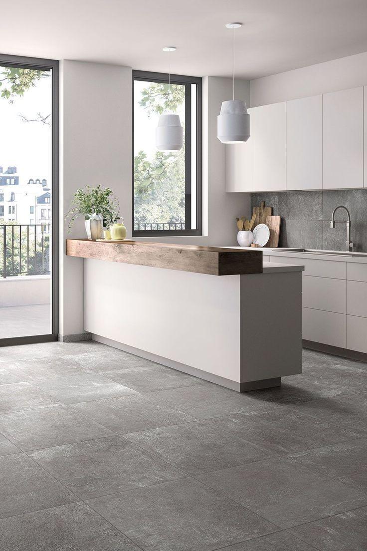 Stil in der Küche mit grauen #Fliesen #eingangsbereichhausinnen